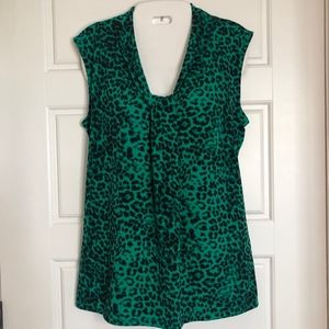 Dana Buchman animal print tank top